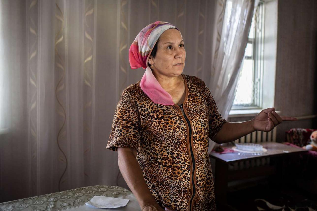 Танзиля Аюпова в зале своего дома