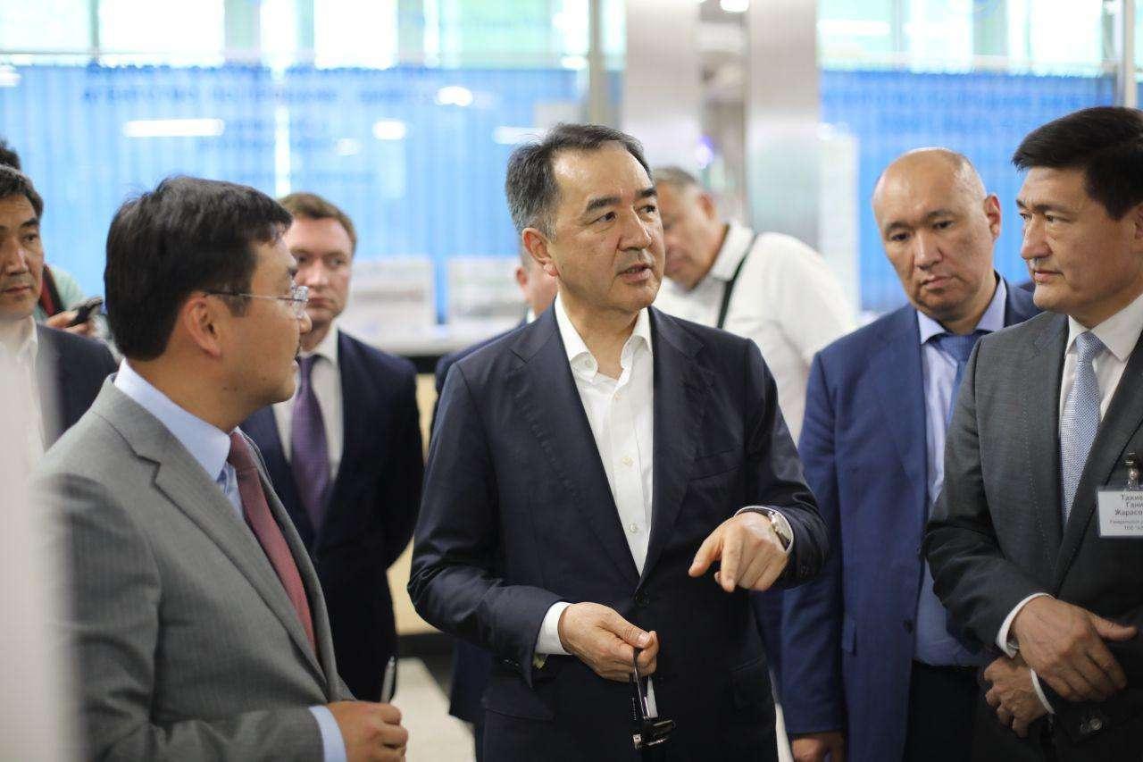 Бакытжан Сагинтаев посетил вокзал