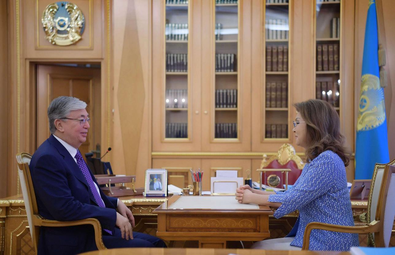 Касым-Жомарт Токаев встретился с Даригой Назарбаевой