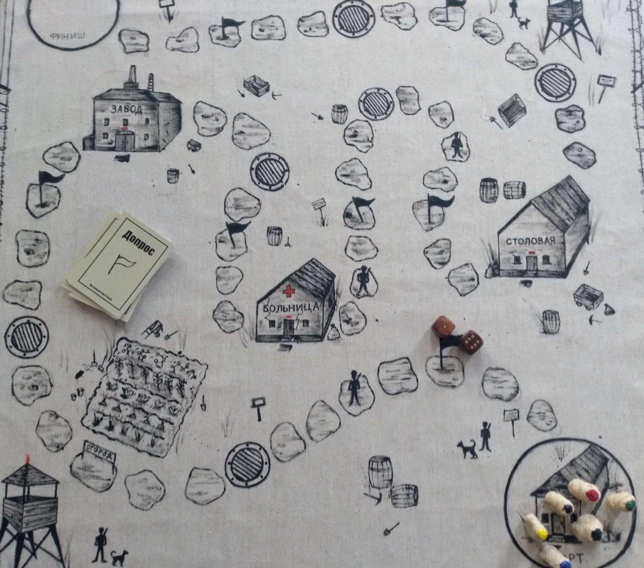 Игра по реалиям АЛЖИРа - почти как монополия, но с экскурсом в трагическую историю