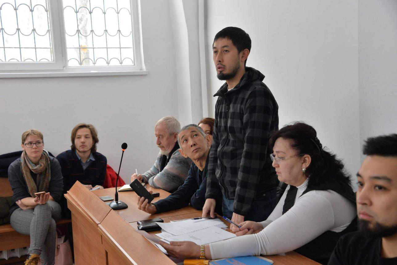 Декабрь 2018 года. Альнур Ильяшев на процессе по смогу в Бостандыкском суде Алматы.