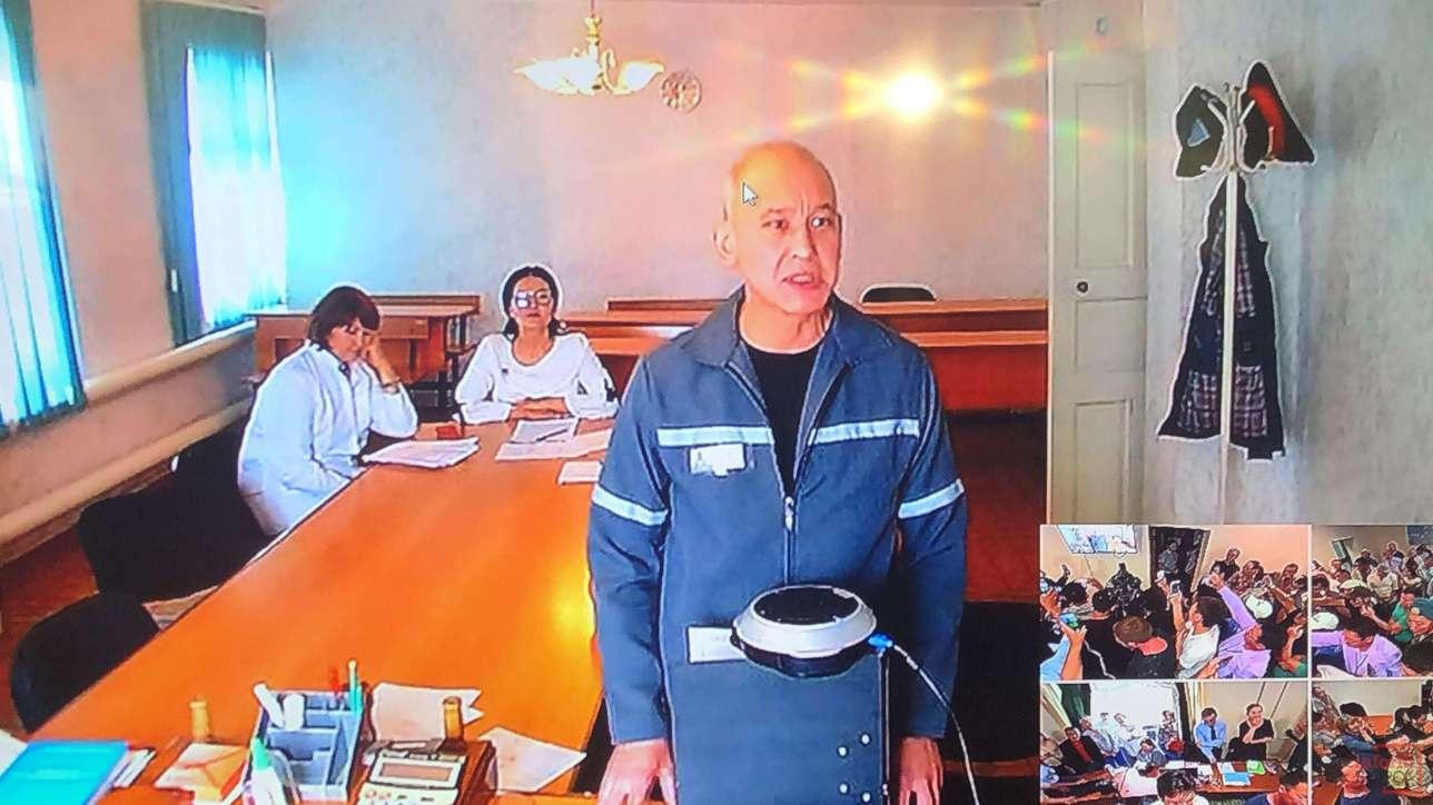 Мухтар Джакишев участвовал в судебном заседании из учреждения уголовно-исполнительной системы