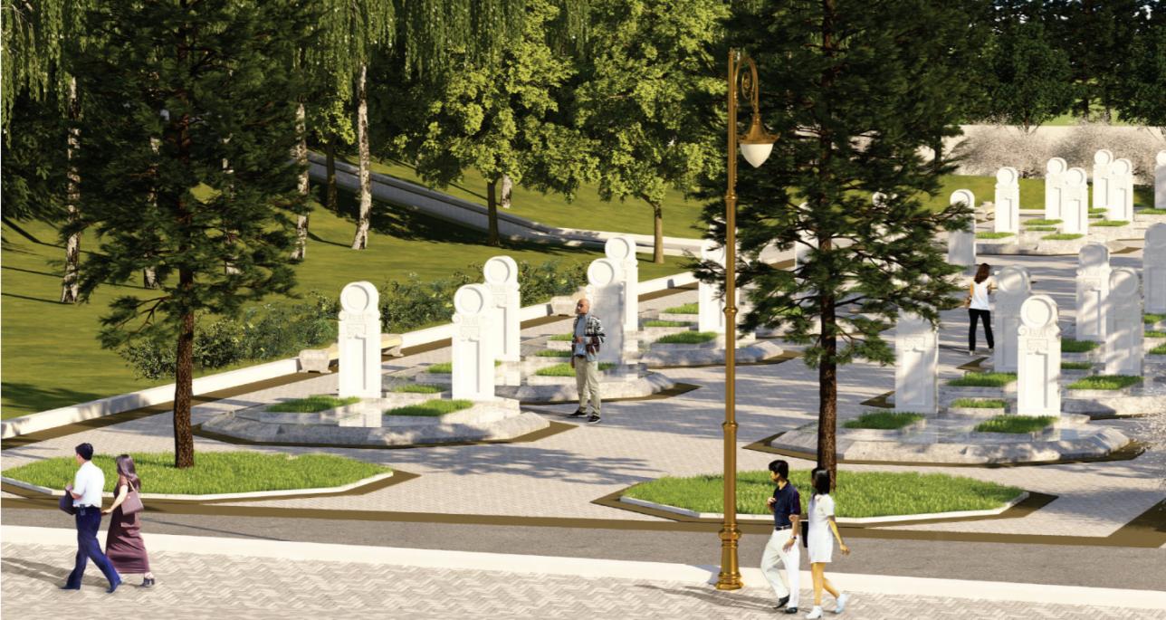 Как должно выглядеть элитарное кладбище по замыслу акимата