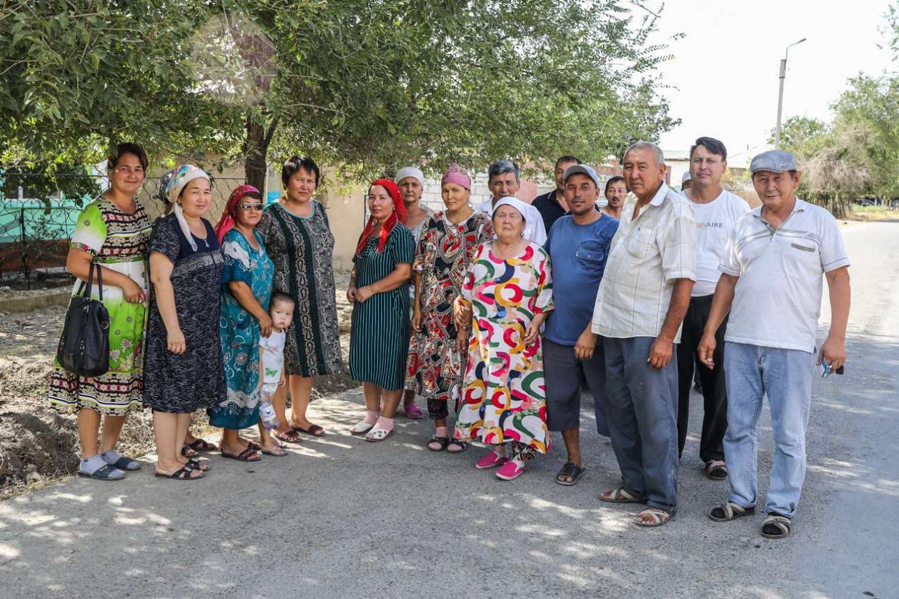 Жители улицы Исмаилова, требующие ремонт их домов