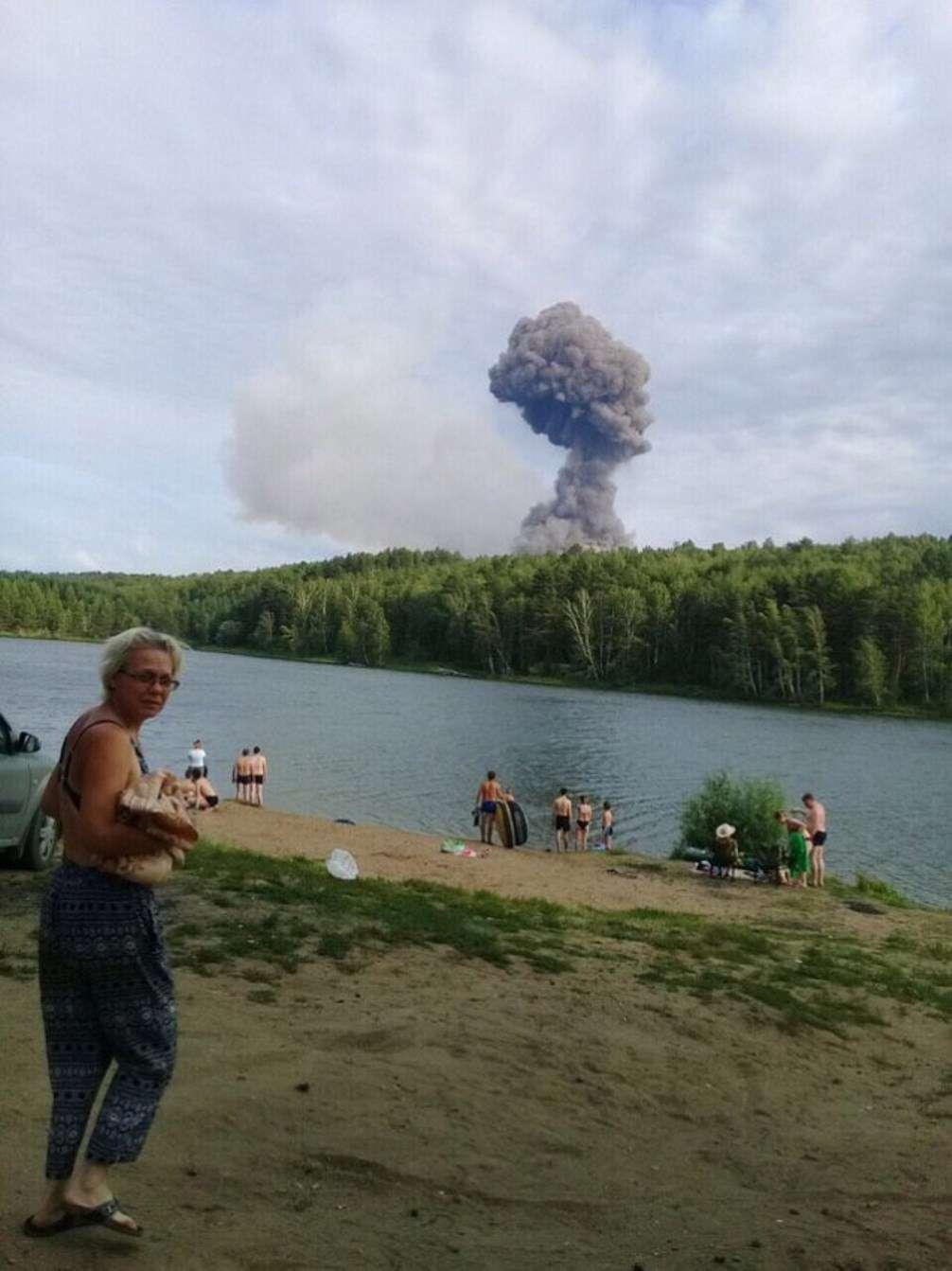 В Красноярском крае произошёл взрыв на военном складе