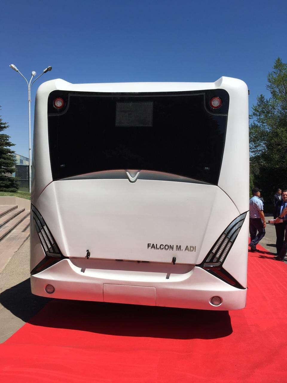 Название электробуса алматинского производства Falcon M.Adi