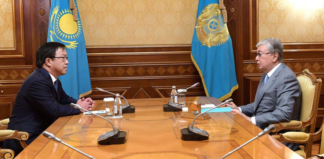 Юрий Пя и Касым-Жомарт Токаев