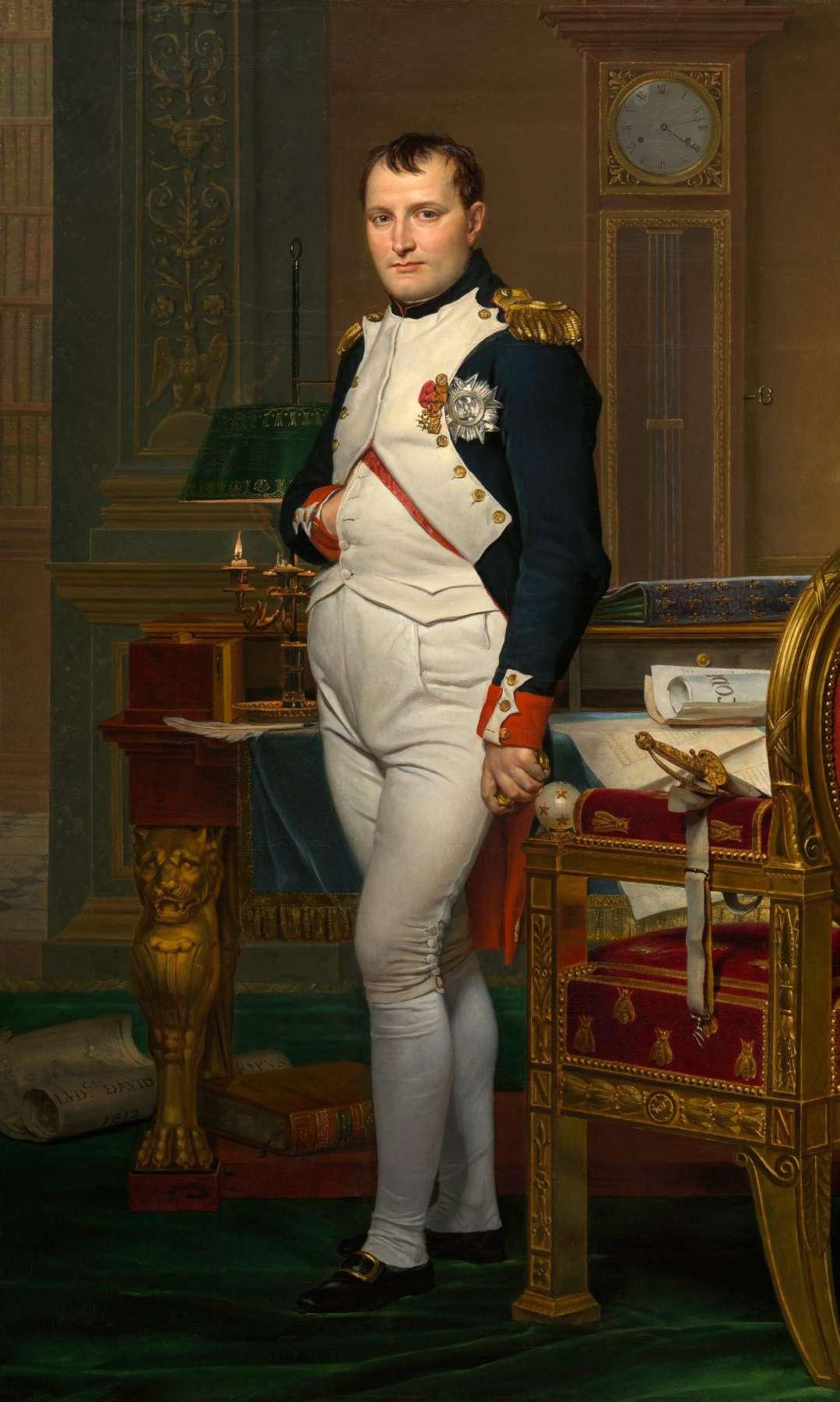 Жак-Луи Давид салған француз императоры Бірінші Наполеон Бонапарт