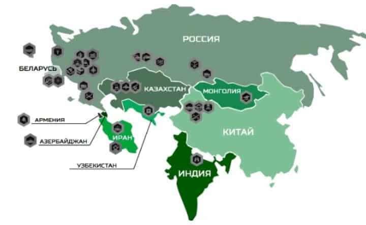 Карта полигонов, где прошли армейские игры