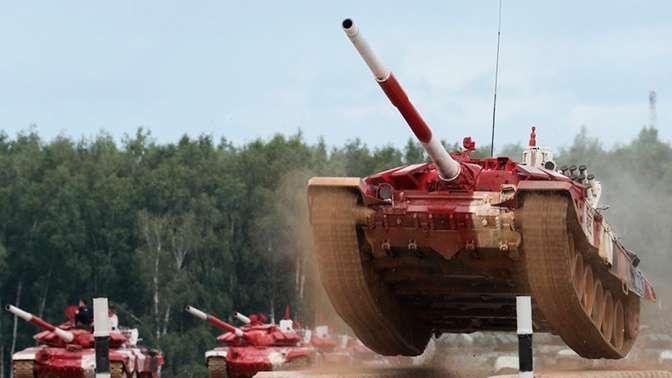 Российский экипаж на танковом биатлоне установил рекорд трассы