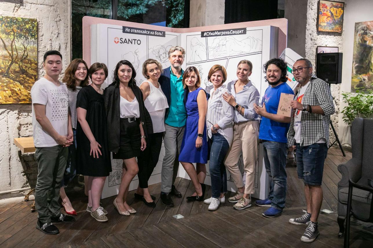 Представители компании SANTO и гости вечера вместе с автором книги Алексеем Даниловым