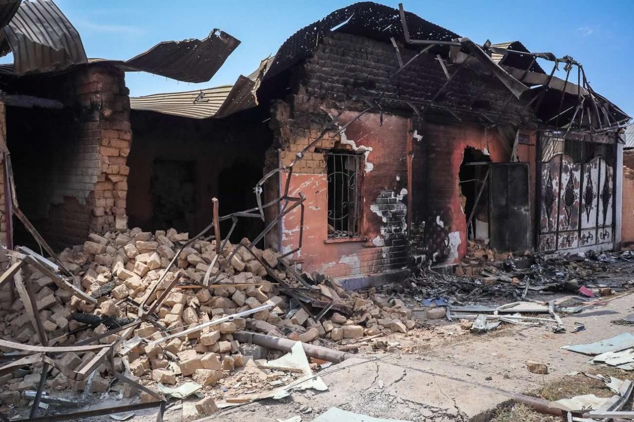 Последствия взрыва в Арыси 2019 года