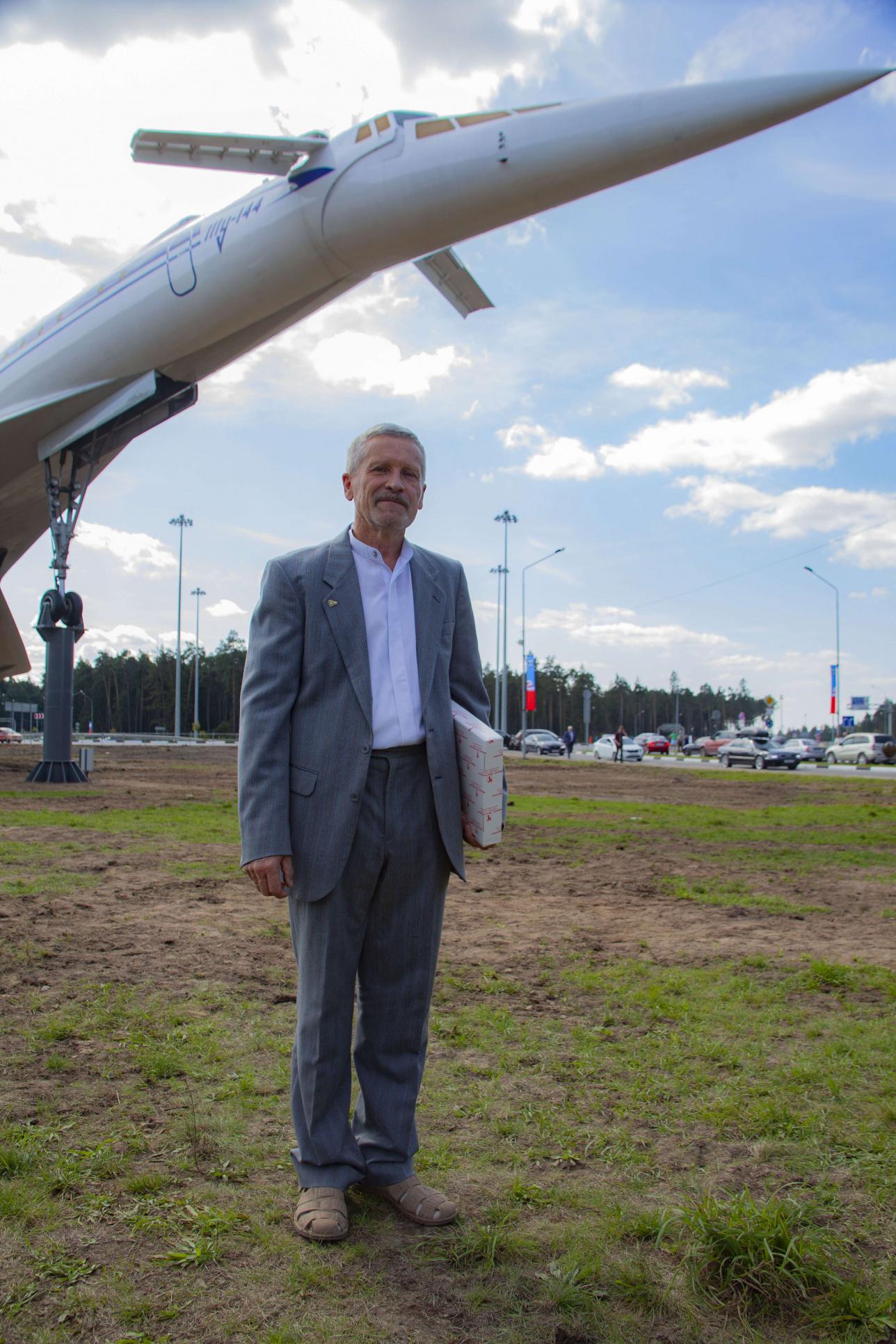 Хранитель самолёта ТУ-144 в Жуковском Алексей Амелюшкин.