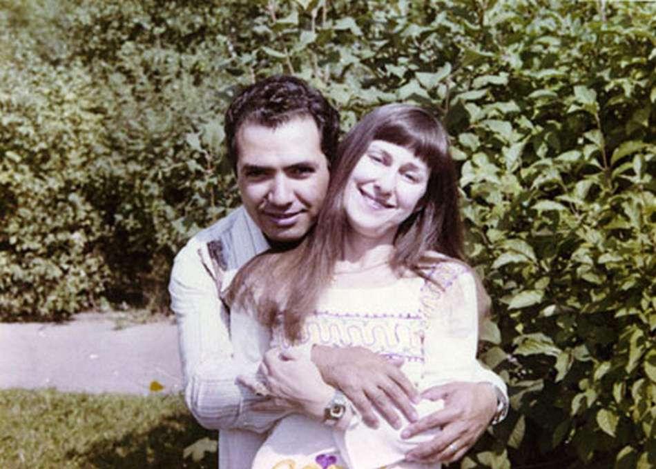 Валерия с супругом в юности