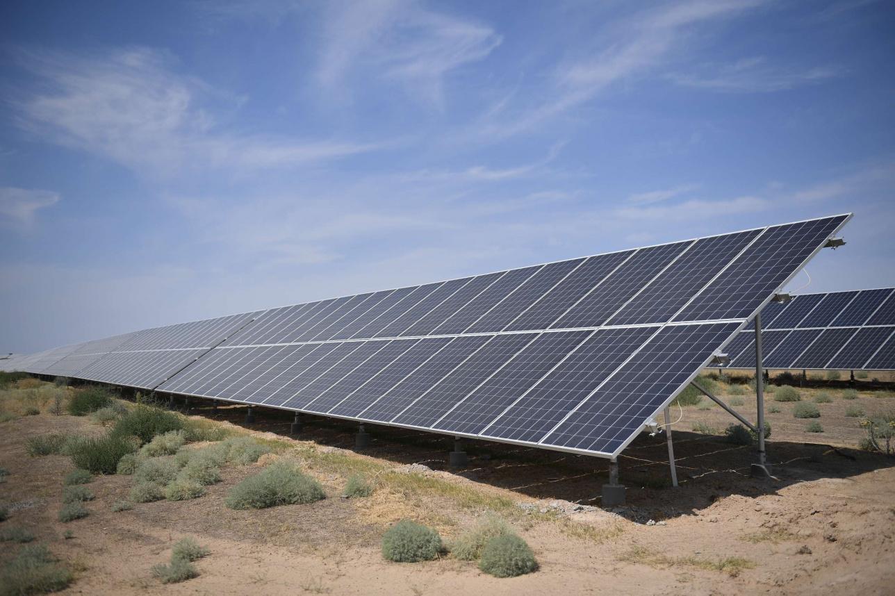 Солнечная электростанция в Капшагае