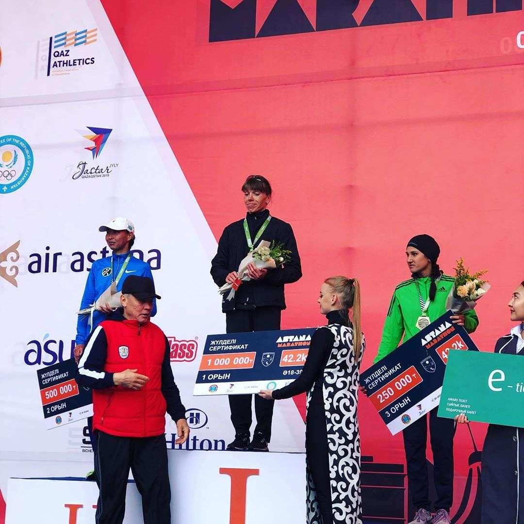 Юлия Андреева из Кыргызстана стала победительницей на дистанции 42.2 км в абсолюте
