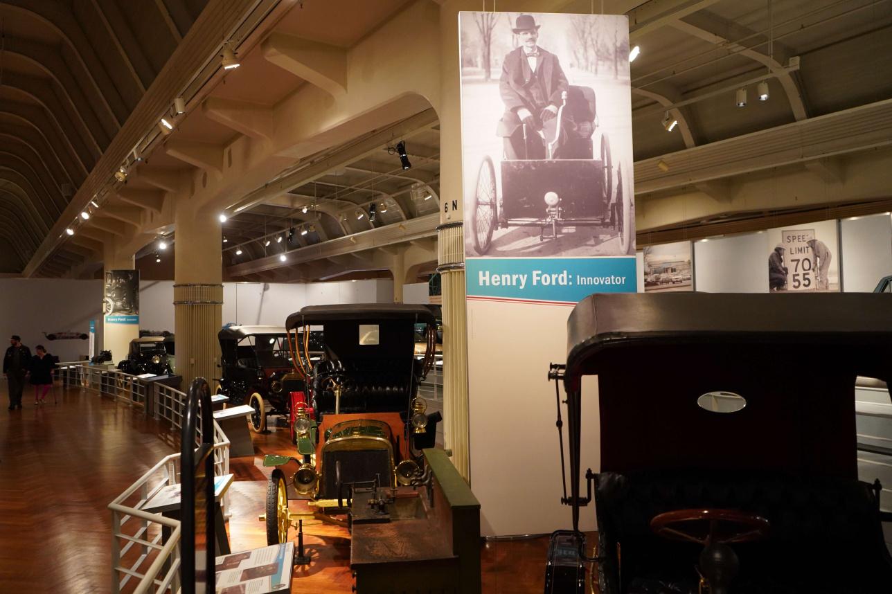 Генри Форд музейінде Америкадағы инновациялық ашулардың тарихы көрсетілген
