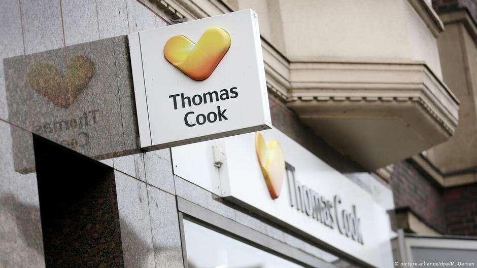 Логотип компании Thomas Cook на здании офиса в Дюссельдорфе