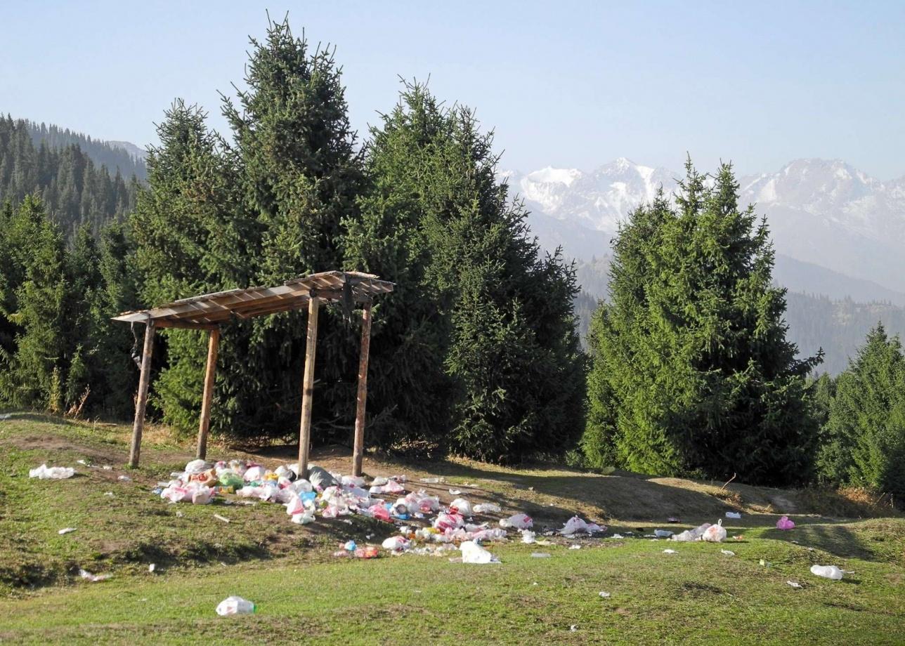 Свалка мусора на Кок-Жайляу. 23 сентября 2019 года