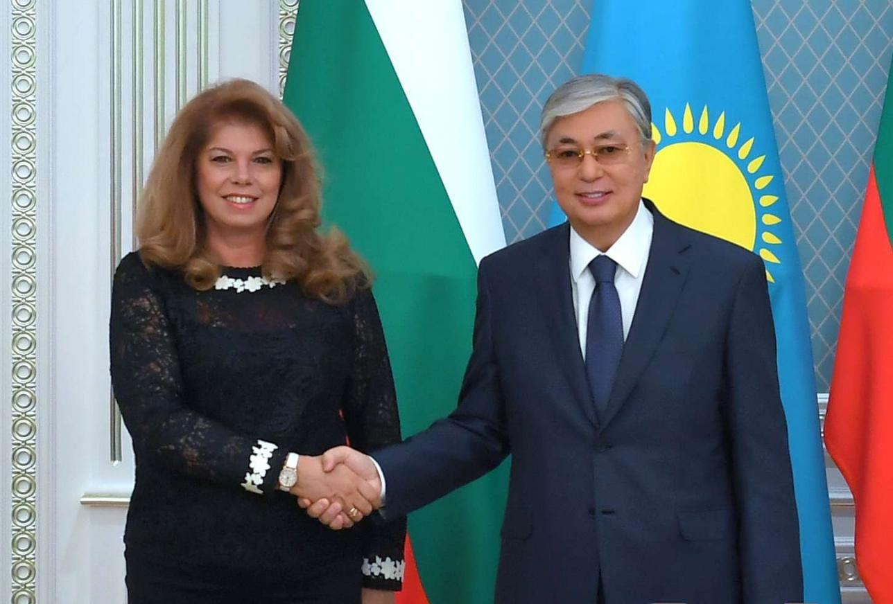 Касым-Жомарт Токаев и Илияна Йотова