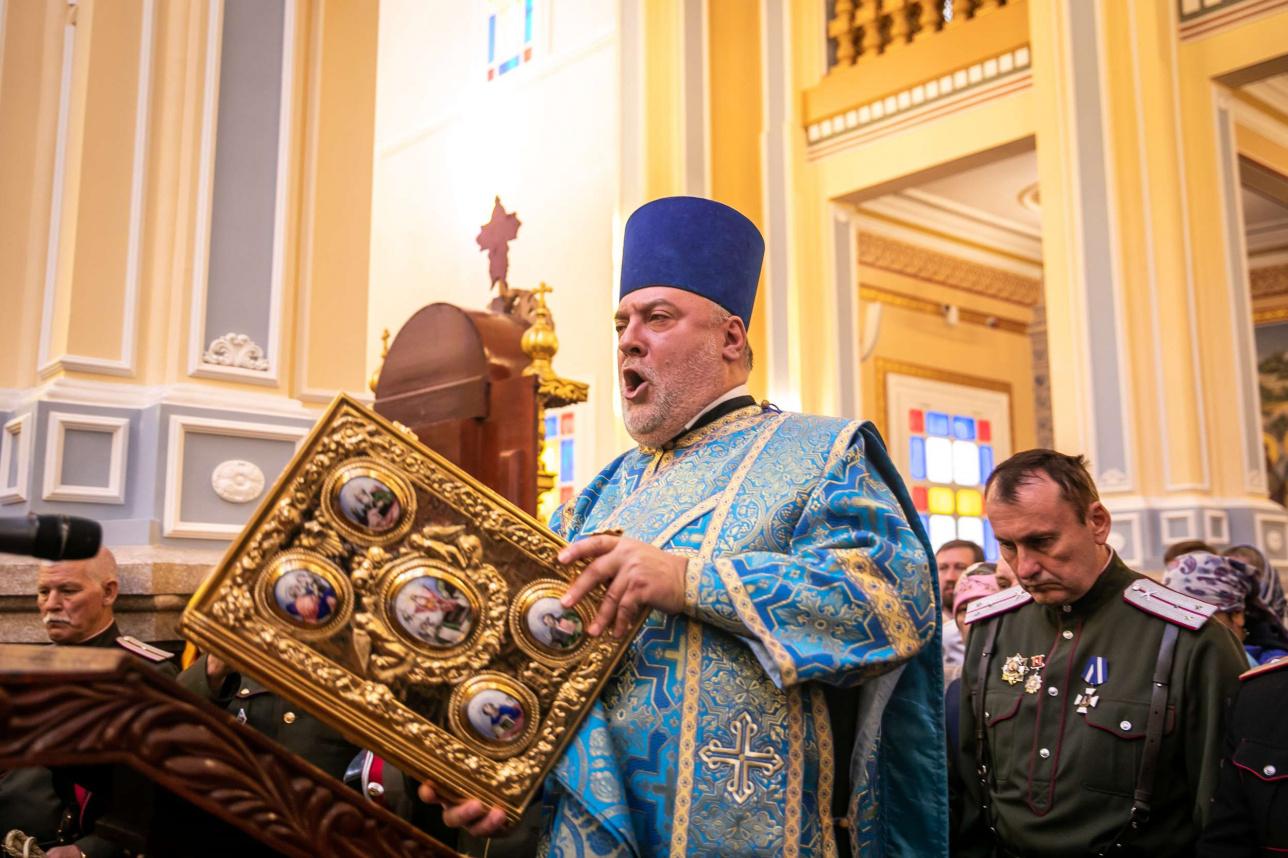 Литургия на открытии Вознесенского собора