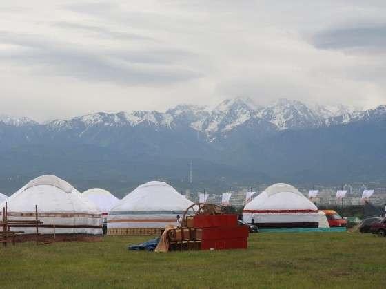 2019 жылы Алматыда өткен этнофестивадағы киіз үй қалашығы