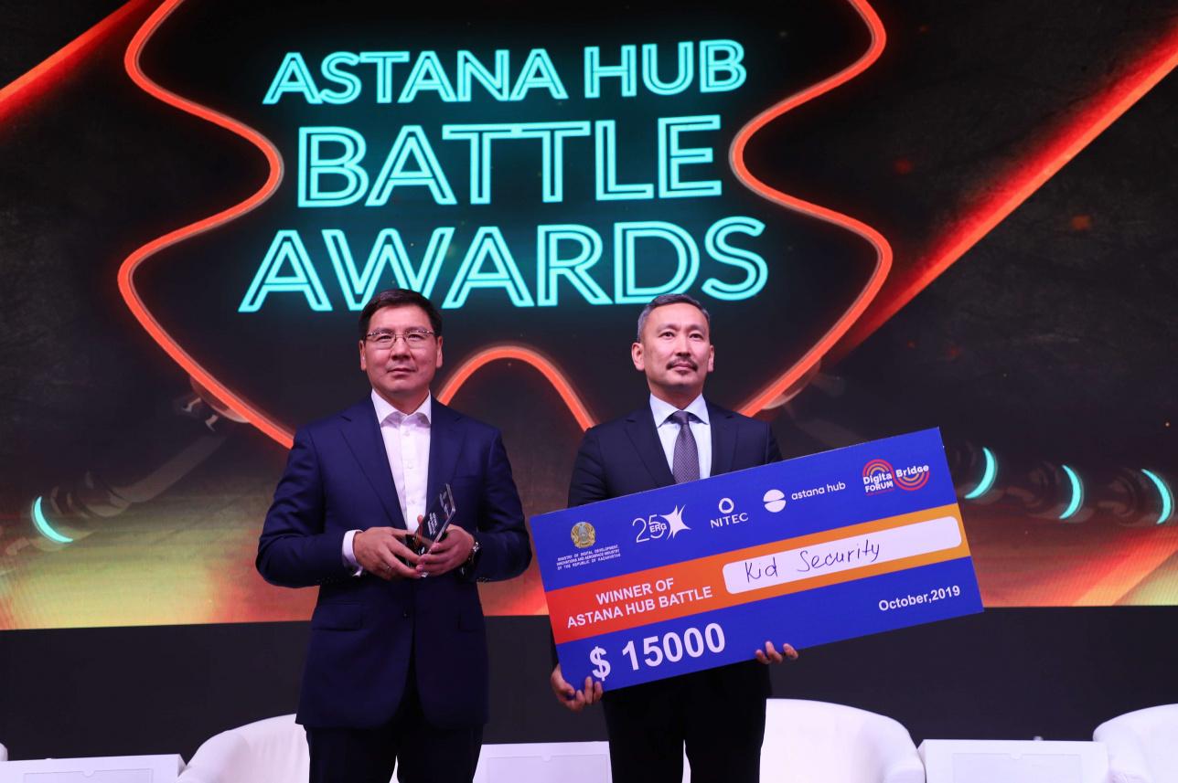Аскар Жумагалиев и победитель соревнования