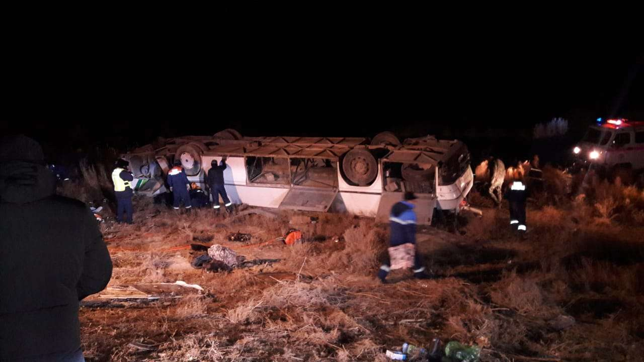 Автобус перевернулся в Кызылординской области