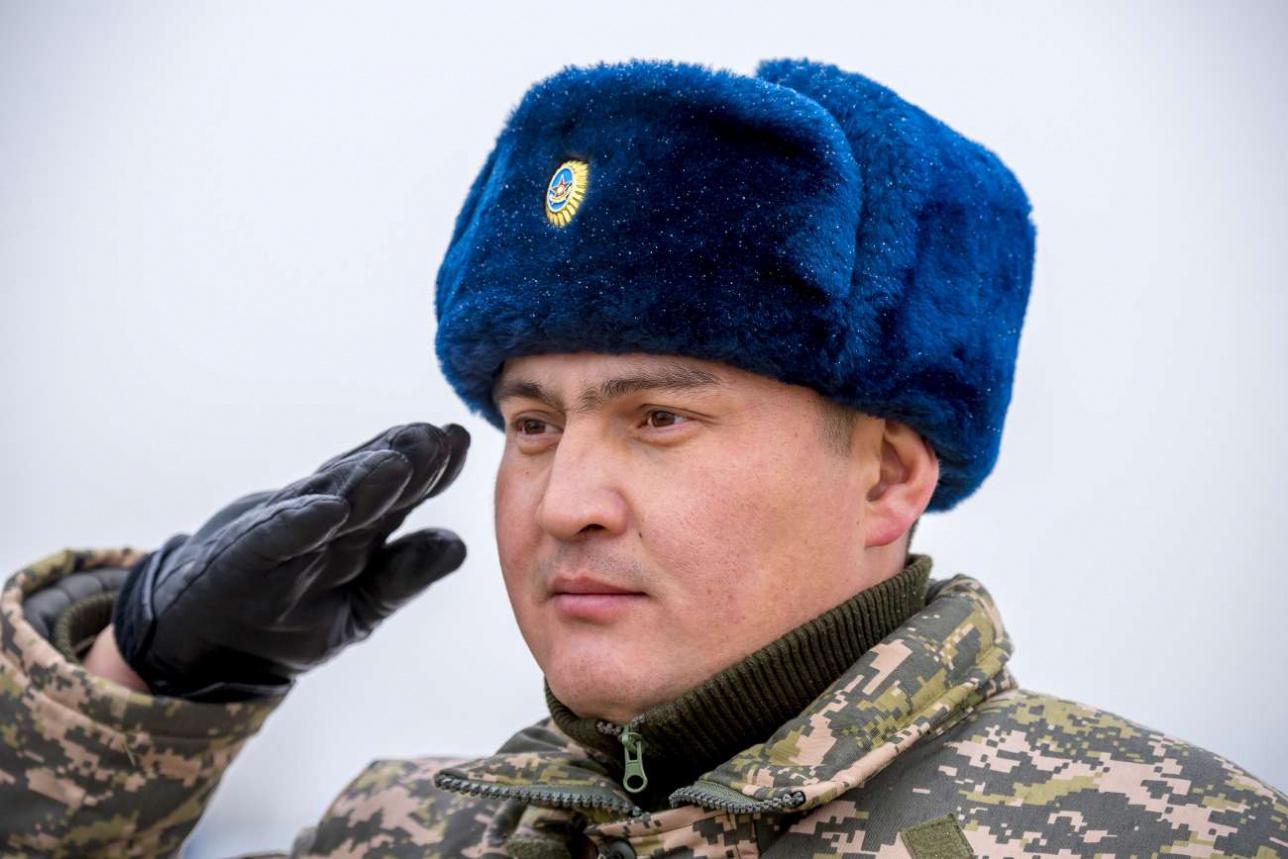 Майор Галым Жадыгер, командир зенитно-ракетного дивизиона